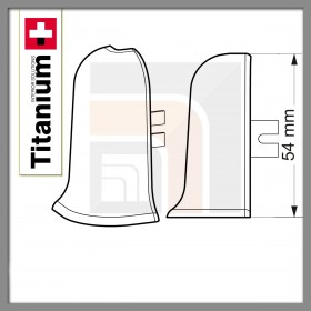 Narożnik zew. Titanium  01-Biały