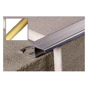 Profil aluminiowy schodowy ryflowany 2,5 m ZŁOTO