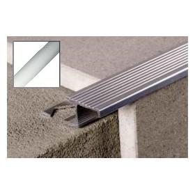 Profil aluminiowy schodowy ryflowany 2,0 m SREBRO