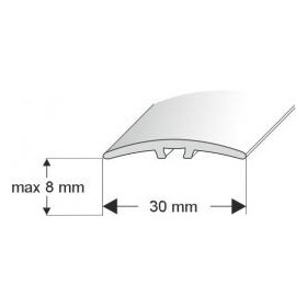 L 30 93 SR Profil łączeniowy 30mm/93cm SREBRO
