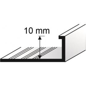Profil  L-10mm lakierowany BIAŁY 2,5m