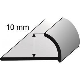 Krawędziówka 10mm alum. 2,5m lakierowana CZARNA